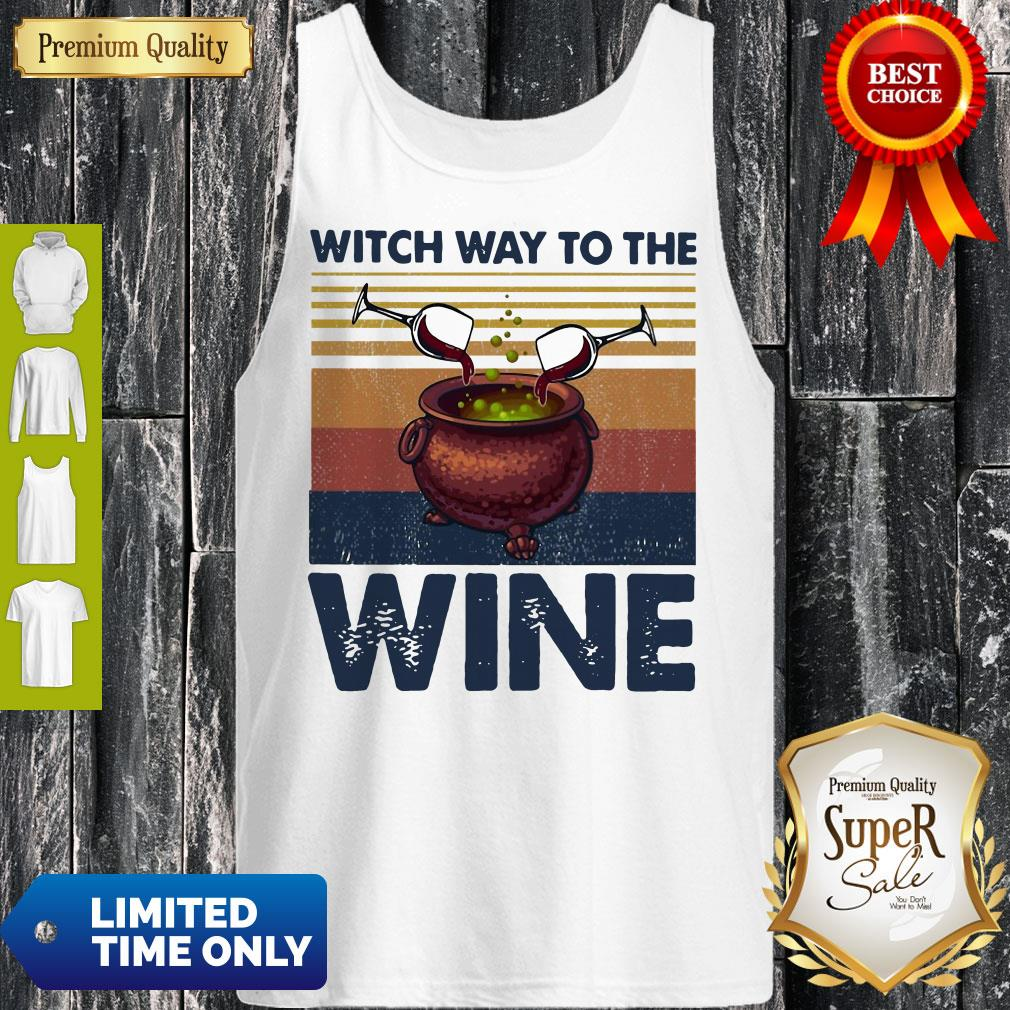 Premium Witch Way To The Wine Vintage Tank Top