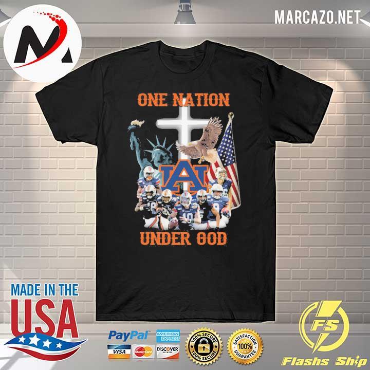 Statue Of Liberty American Auburn Tigers One Nation Under God Shirt