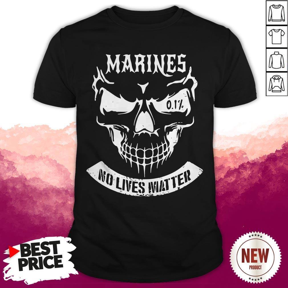 Terrific Marines No Lives Matter 0.1% Skull Shirt