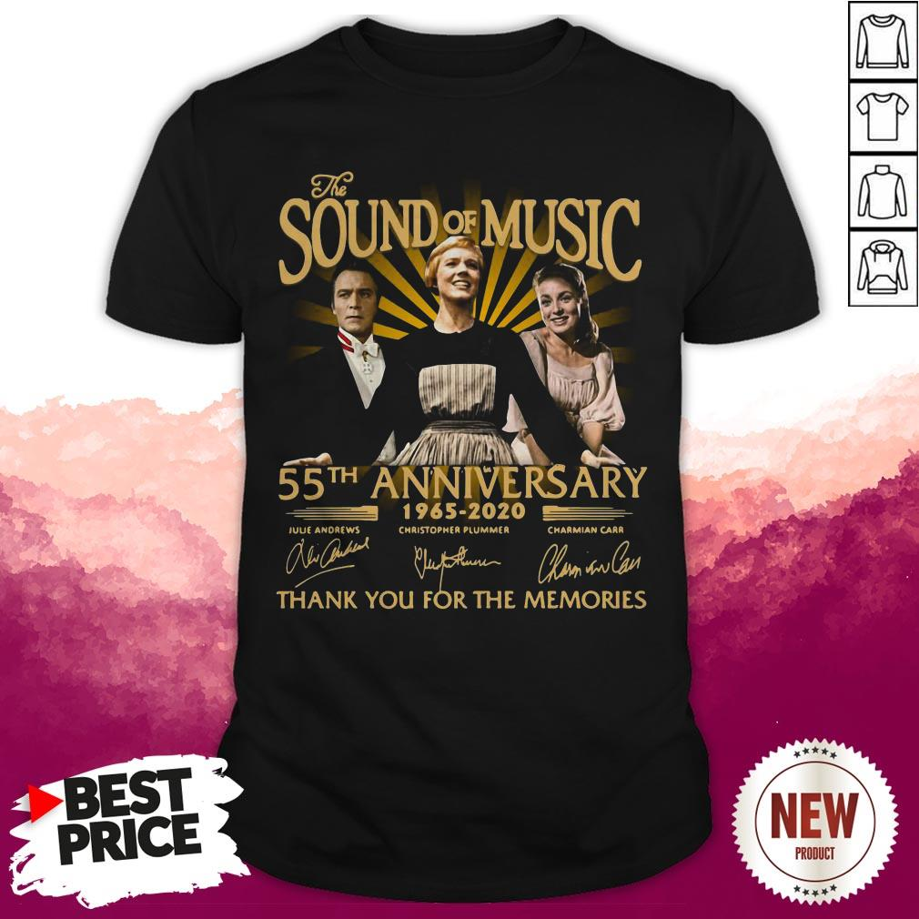 The Sound Of Music 55th Anniversary 1965 2020 Julie Andrews Christopher Plummer Charmian Carr Thank You For The Memories Shirt