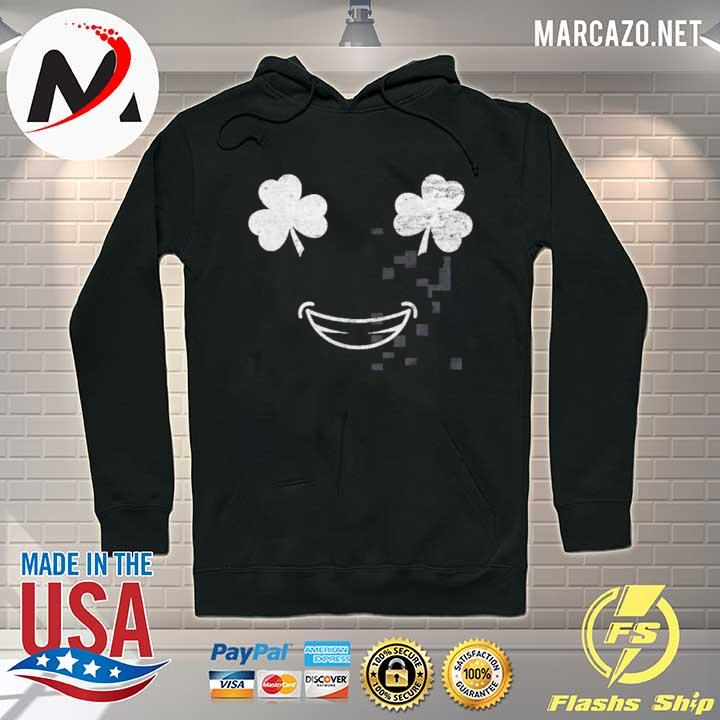 Smile Face With Shamrock Eyes Unisex T-Shirt Hoodie