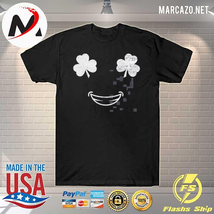 Smile Face With Shamrock Eyes Unisex T-Shirt