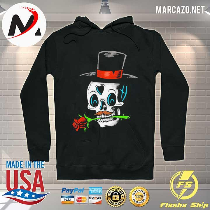 The Man With Rose Sugar Skull Dia De Muertos Day Of Dead Shirt Hoodie
