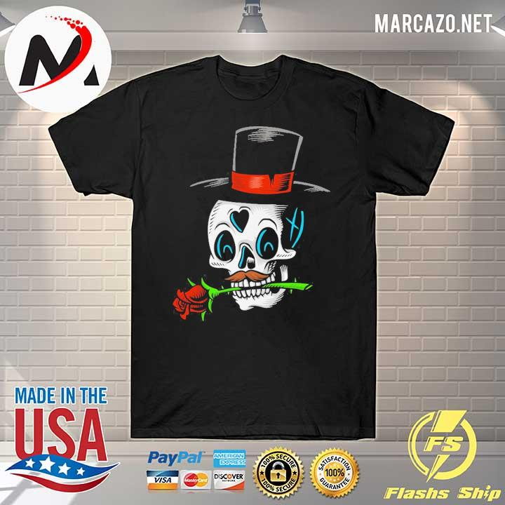 The Man With Rose Sugar Skull Dia De Muertos Day Of Dead Shirt