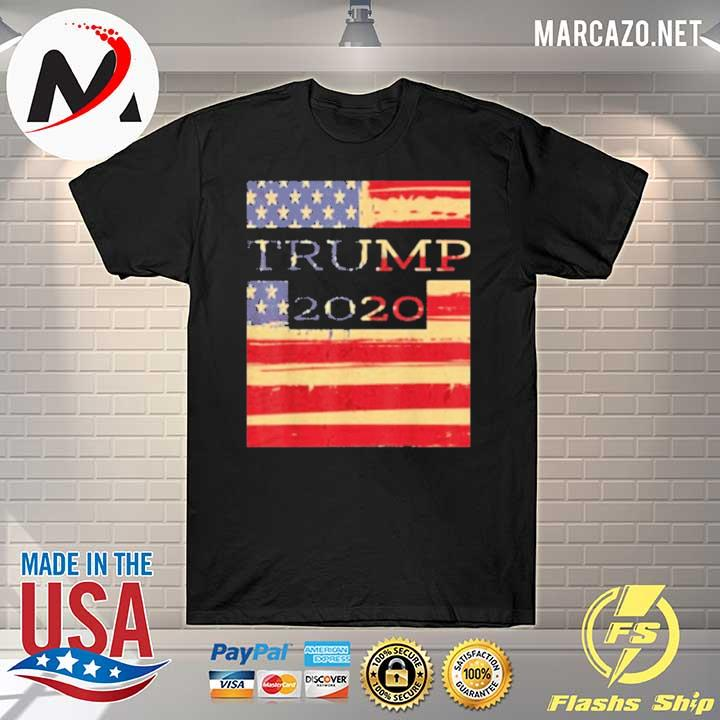 Trump 2020 American Flag T-Shirt