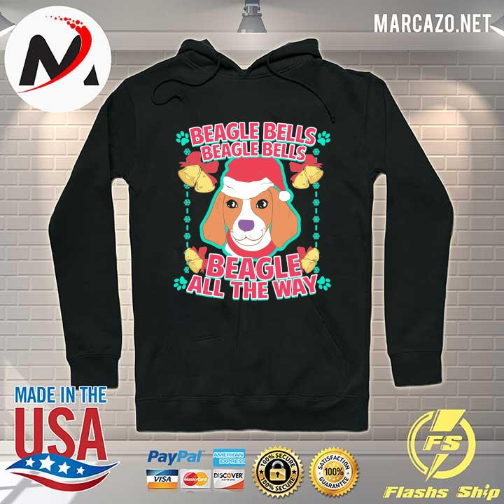 2020 beagle bells beagle all the way christmas sweats Hoodie