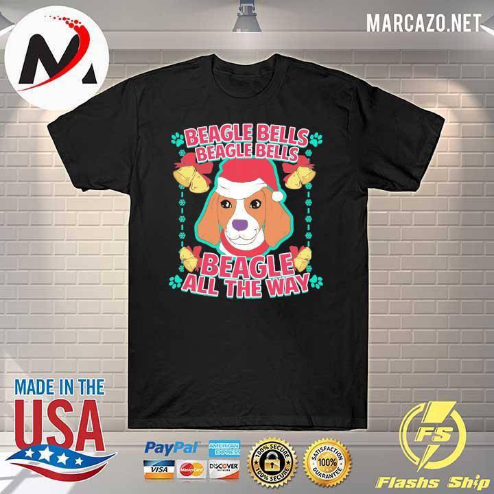 2020 beagle bells beagle all the way christmas sweatshirt