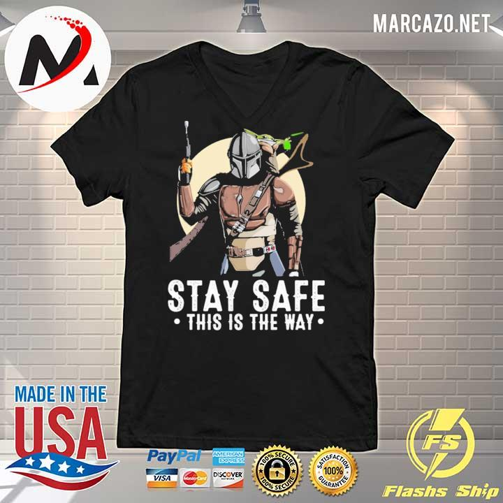 2020 the mandalorian and baby yoda stay safe this is the way sweats V-neck