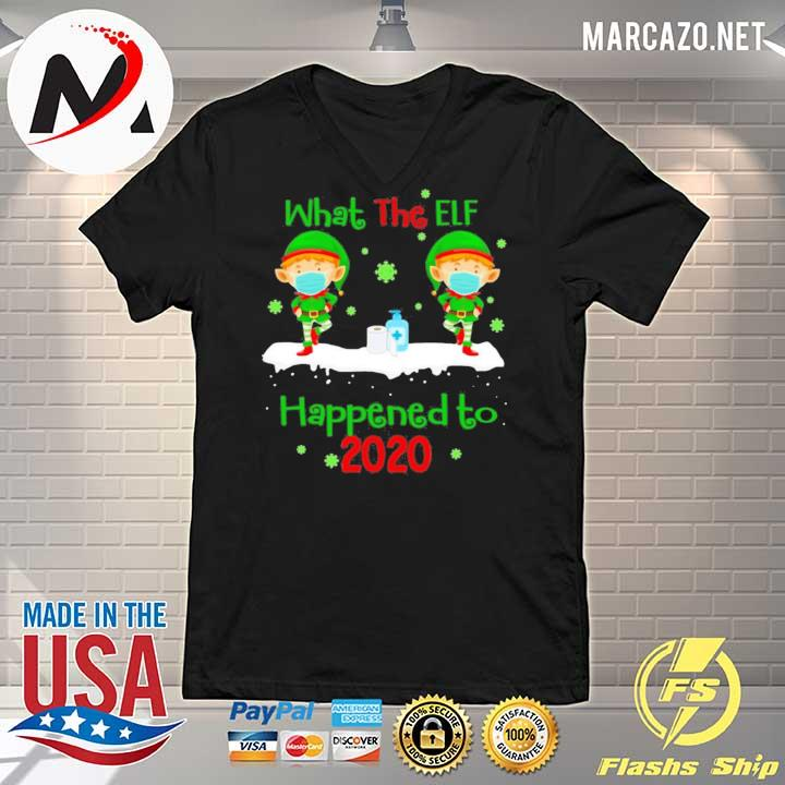 2020 what the elf happened to 2020 christmas sweats V-neck