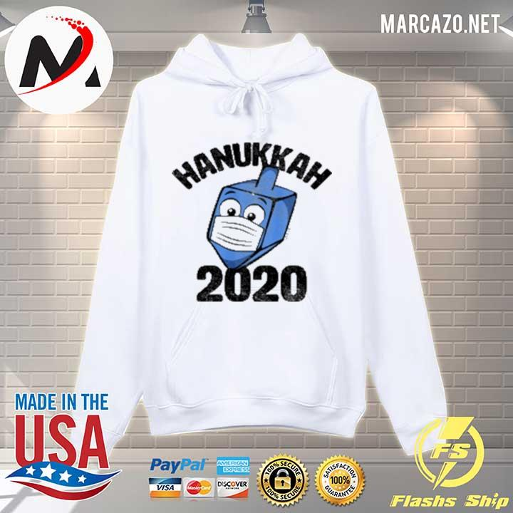 Funny Hanukkah 2020 Dreidel Wearing Face Mask Sweats Hoodie