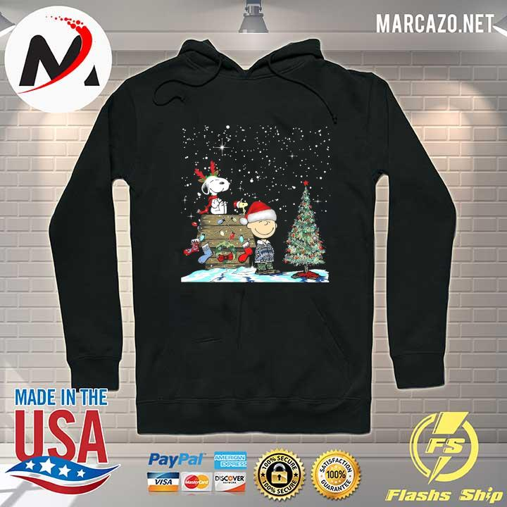 Official merry christmas charlie brown snoopy and woodstock sweats Hoodie