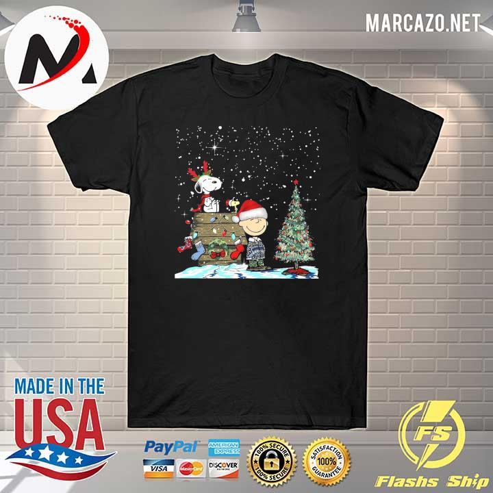 Official merry christmas charlie brown snoopy and woodstock sweatshirt