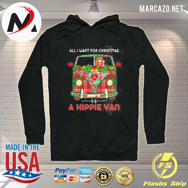 Premium logo mercedes-benz – all i want for christmas is a hippie van sweats Hoodie