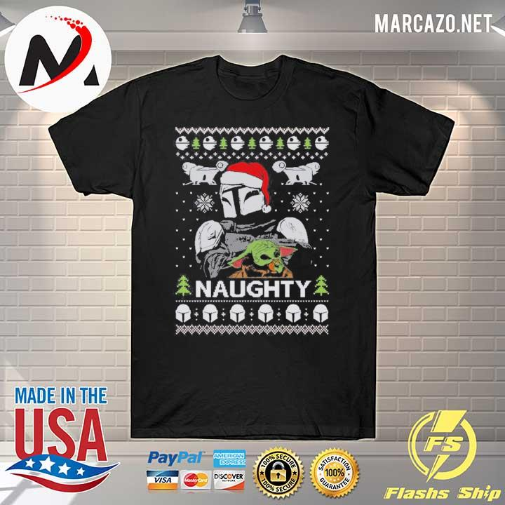 Premium naughty baby yoda christmas sweater black