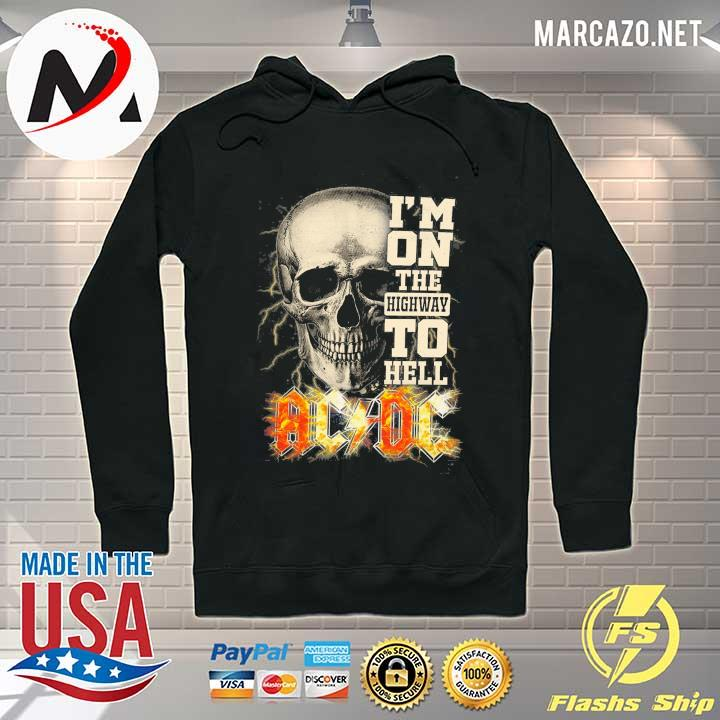 Premium skull i'm on the highway to hell ac dc sweats Hoodie