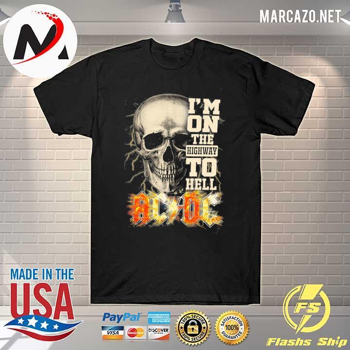 Premium skull i'm on the highway to hell ac dc sweatshirt