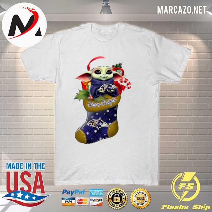 2020 baby yoda hug baltimore ravens ornament merry christmas 2020 shirt