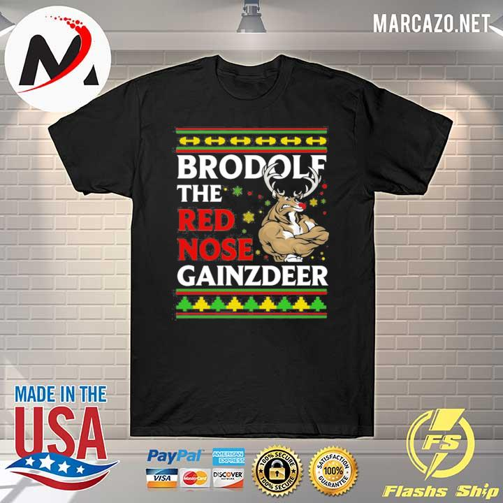 Brodolf The Red Nose Gainzdeer Christmas Sweatshirt