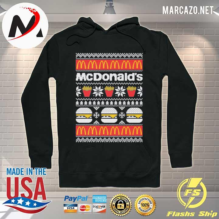McDonald's Christmas Xmas Ugly Sweater Hoodie