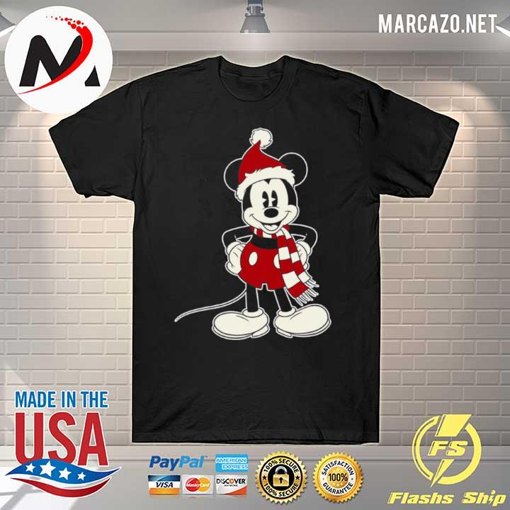Mickey Mouse Santa Hat Merry Christmas shirt