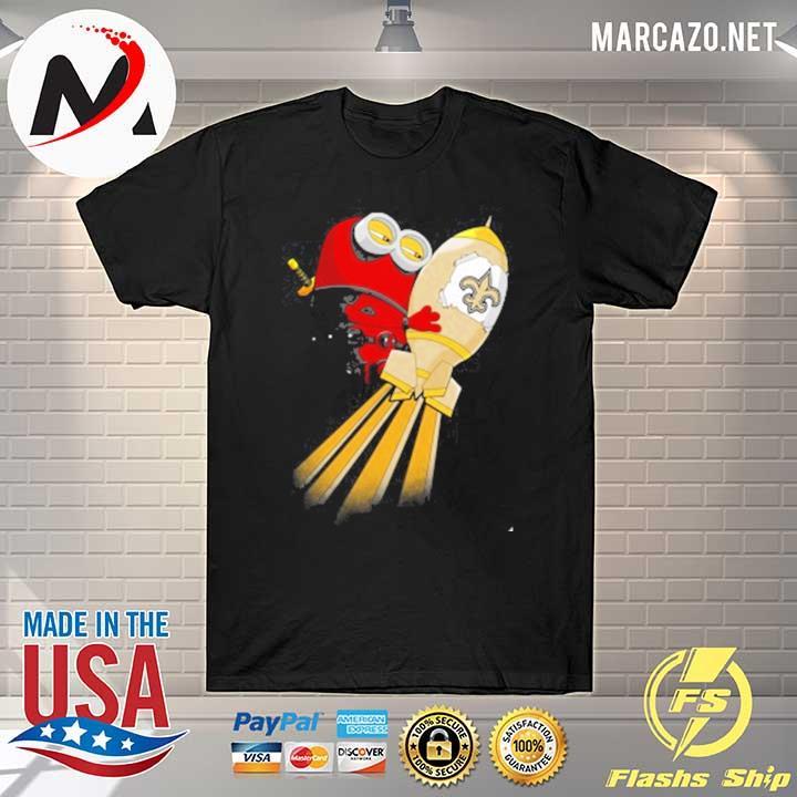 NFL Football New Orleans Saints Deadpool Minion Marvel Sweatshirt