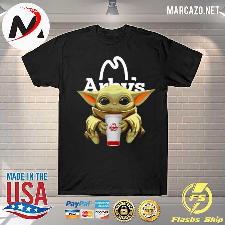 Quality Baby Yoda Hug Arbys shirt
