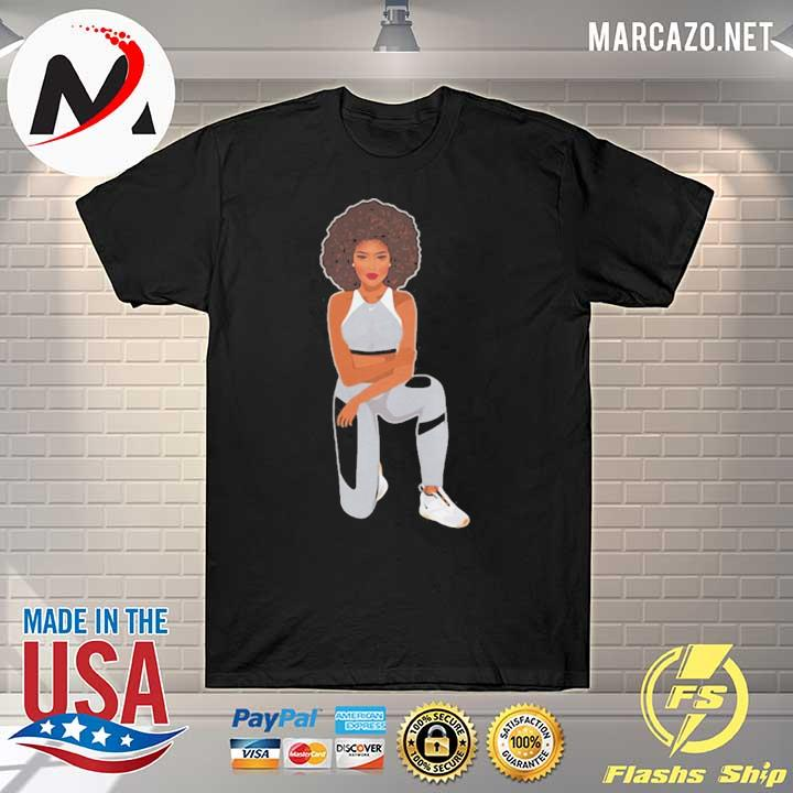 Melanin goddess take a knee were with kap shirt