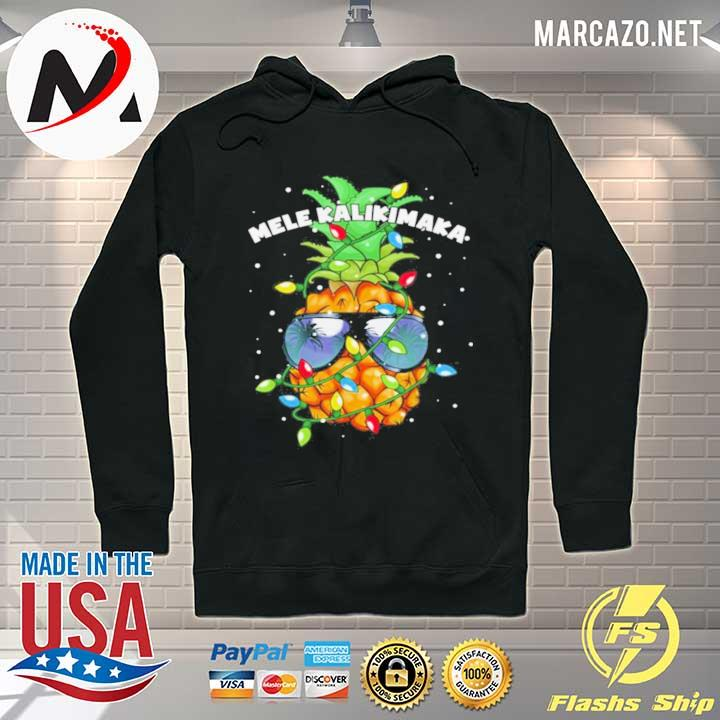 Mele kalikimaka Christmas lights hawaiian xmas pineapple sweater Hoodie