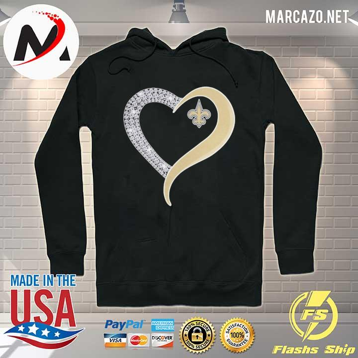 New orleans saints diamond heart s Hoodie