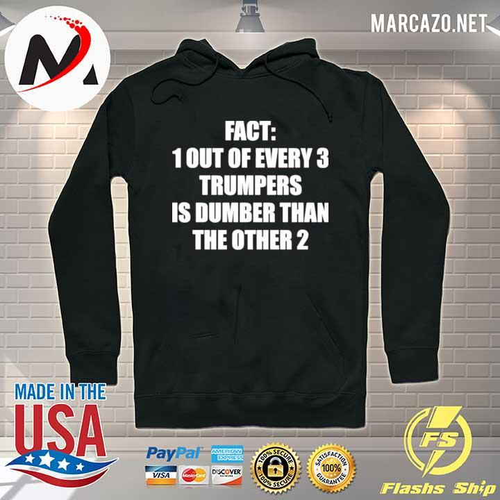 Premium Fact 1 Out Of Every 3 Trumpers Is Dumber Than The Other 2 Shirt Hoodie