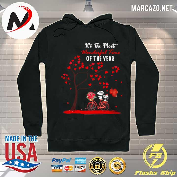 Snoopy and girlfriend its the most wonderful time of the year valentines day s Hoodie