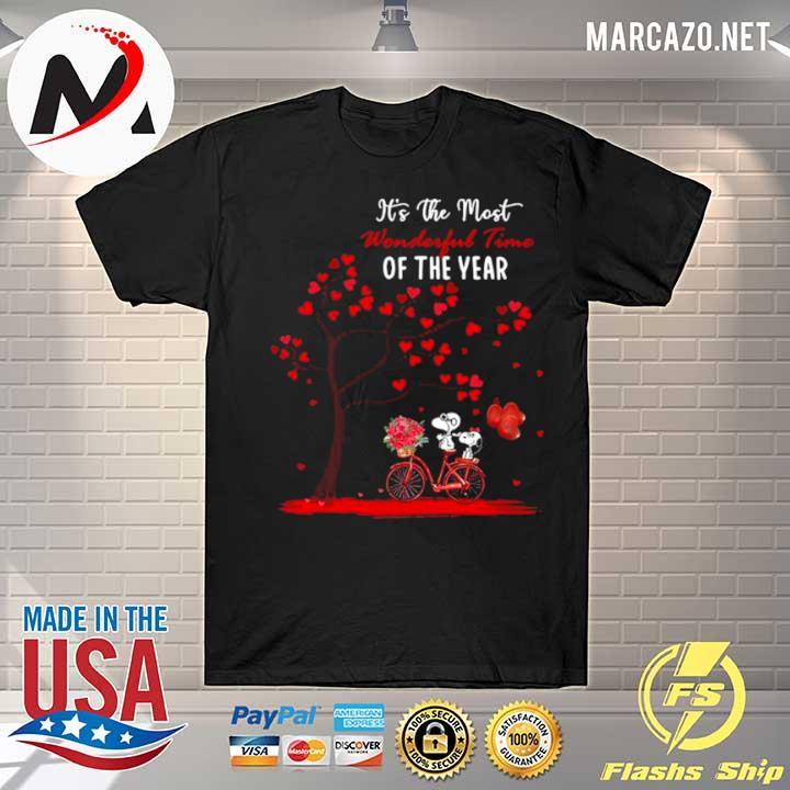 Snoopy and girlfriend its the most wonderful time of the year valentines day shirt